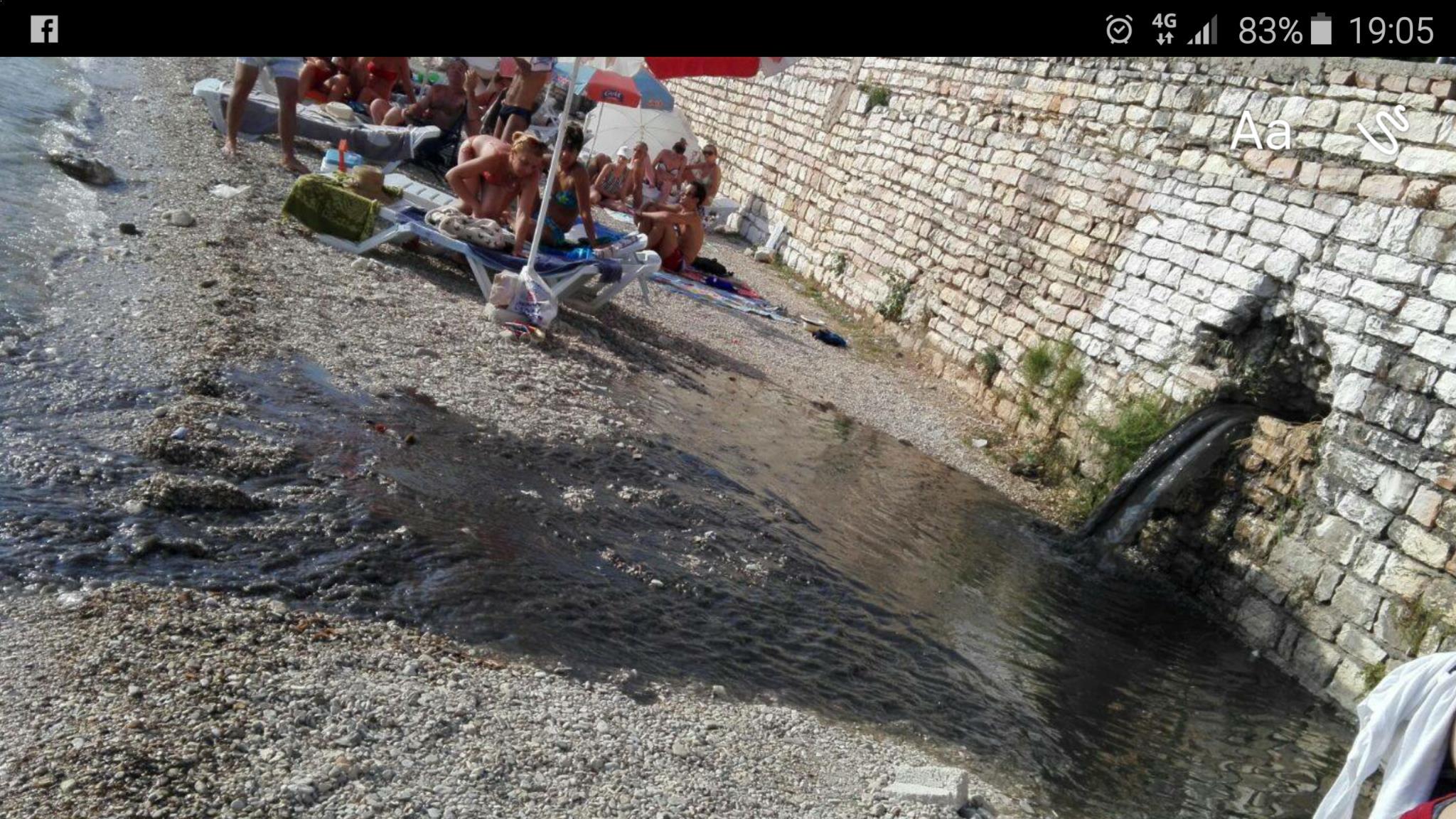 Ujësjellësi i Sarandës  Duken të zeza  por janë ujërat e depos  Rrini të qetë  mund të ketë derdhje prapë